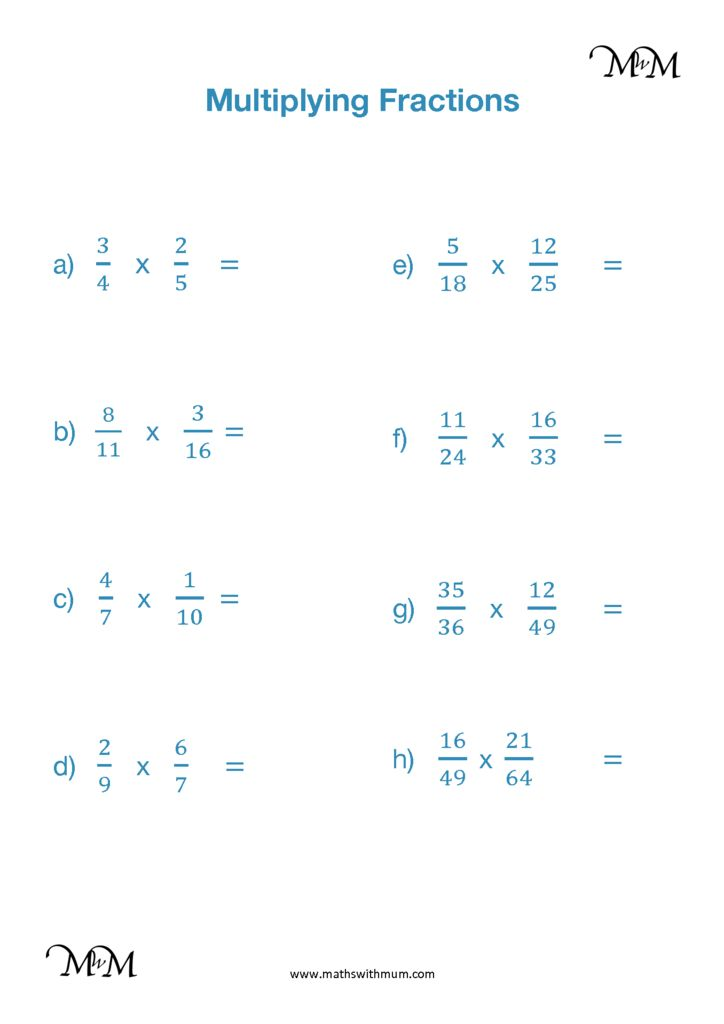 Multiplying Fractions Simplifying First   Maths with Mum