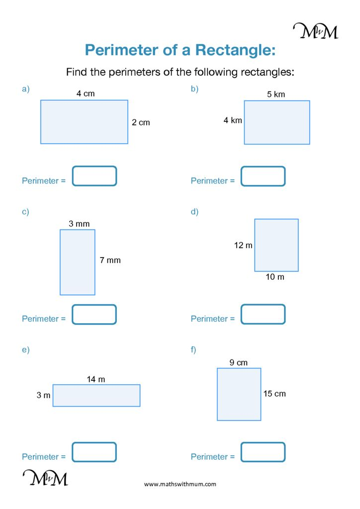 How to Find the Perimeter of Rectangles and Squares ...