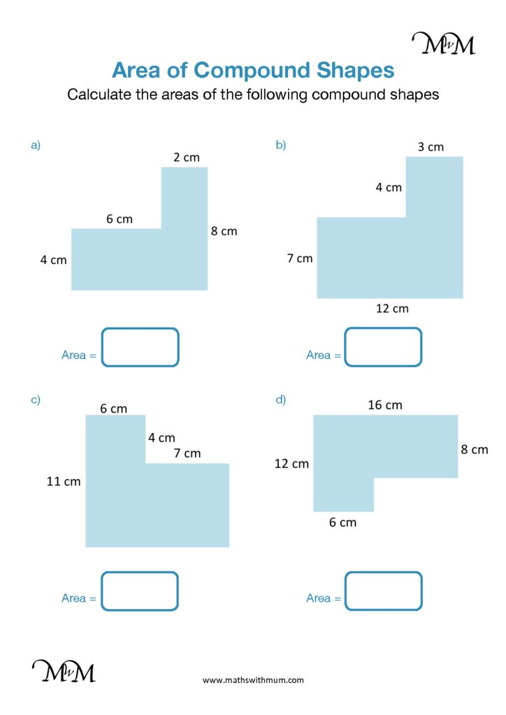 Area of Compound Shapes Rectangles with Missing Sides ...